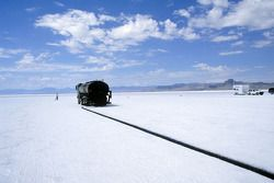 Bonneville crew mark out run