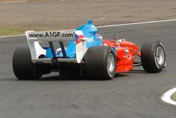 Tomas Enge heads onto the back straight