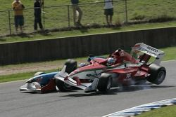 Salvador Duran and Roman Rusinov crash