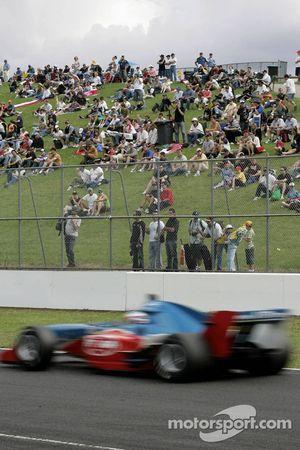 Eastern Creek fans watch the race
