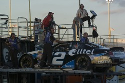 Ryan Newman's crew gets the backup car ready