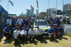Ford BP World Rally team celebrate the 6th place finish of Roman Kresta and Jan Mozny for the debut of the Focus WRC 06