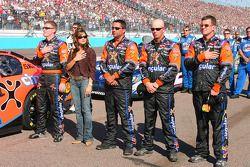 Jeff Burton during National Anthem