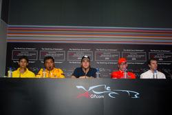 Persconferentie: Alex Yoong, Fairuz Fauzy, Nelson A. Piquet, Jos Verstappen en Ralph Firman