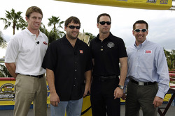 Miami press conference: 2005 championship contenders Carl Edwards, Tony Stewart, Jimmie Johnson and
