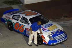 Race Fest in Fort Lauderdale: a 2006 Ford Fusion Nextel Cup car on display