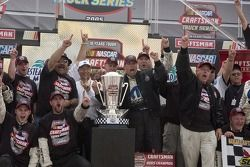 Craftsman Truck Series 2005 champion Ted Musgrave celebrates