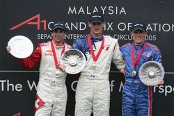 Podium: race winner Alexandre Premat with Neel Jani and Robbie Kerr
