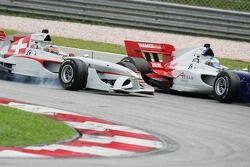 Neel Jani and Alexandre Premat battle