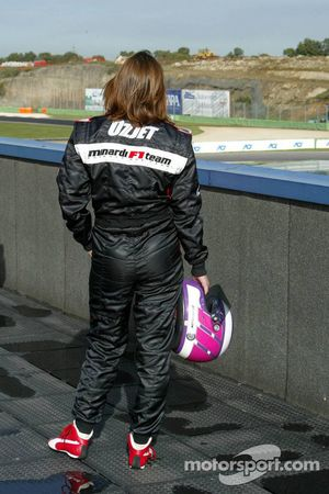 Katherine Legge after her off-track excursion