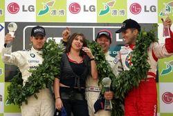 Andy Priaulx con Dirk Muller e Fabrizio Giovanardi