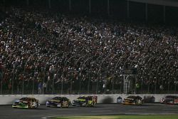 Restart: Elliott Sadler leads the field