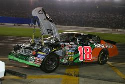 Wrecked car of J.J. Yeley