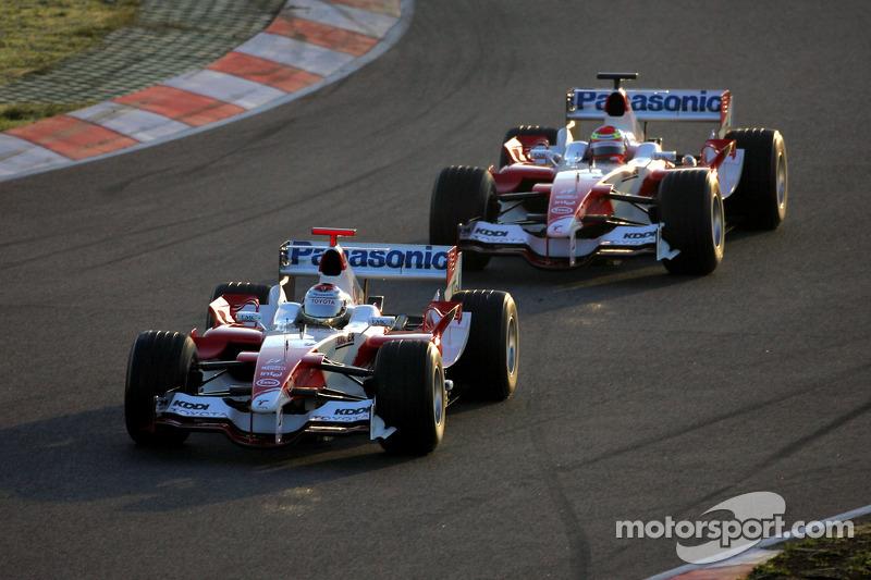 Jarno Trulli and Ricardo Zonta