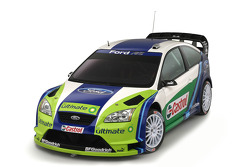 Studio shot of the new Ford Focus RS WRC 06