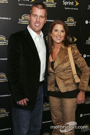 Jeremy Mayfield arrives at the 2005 NASCAR Nextel Cup Series Championship Party At Marquee