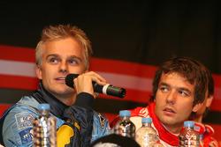 Press conference: Heikki Kovalainen and Sébastien Loeb
