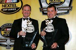 NASCAR Nextel Cup Awards Banquet at the Waldorf Astoria Hotel: Penske Racing teammates Rusty Wallace and Ryan Newman