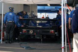 #19 Ten Motorsports BMW Riley in garage for first of many halfshaft repairs