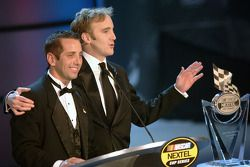 NASCAR Nextel Cup Awards Banquet at the Waldorf Astoria Hotel: Greg Biffle with comedian Jay Mohr
