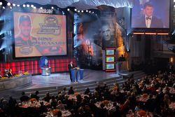 NASCAR Nextel Cup Awards Banquet à l'hôtel Waldorf Astoria: Tony Stewart sur scène