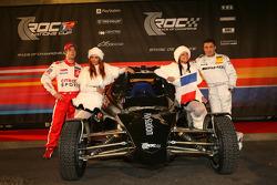 France Nations Cup team Sébastien Loeb and Jean Alesi