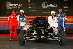 فريق البرازيل المشارك في سباق الأبطال: فيليبي ماسا ونيلسون بيكيه الإبن