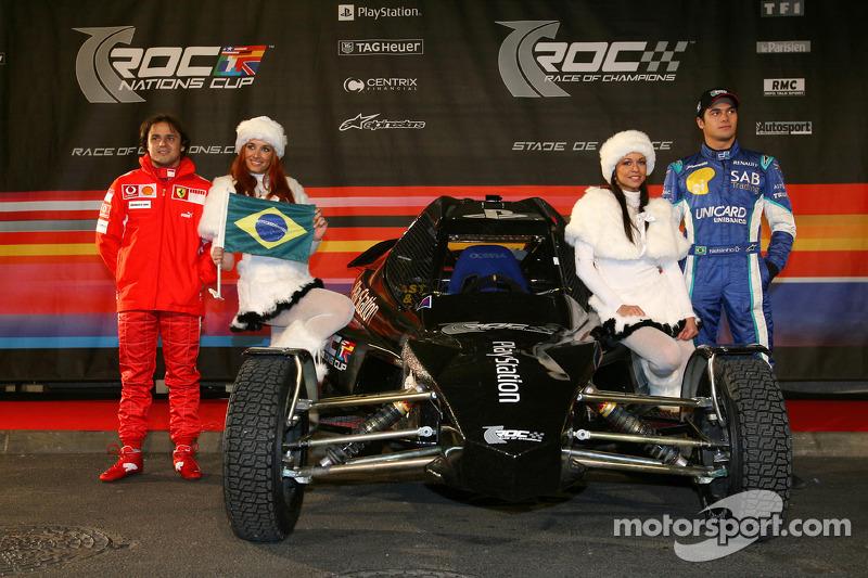 Brazil Nations Cup team Felipe Massa and Nelson A. Piquet