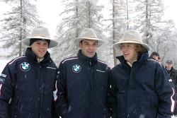 Dirk Muller, Jorg Mueler y Sebastian Vettel