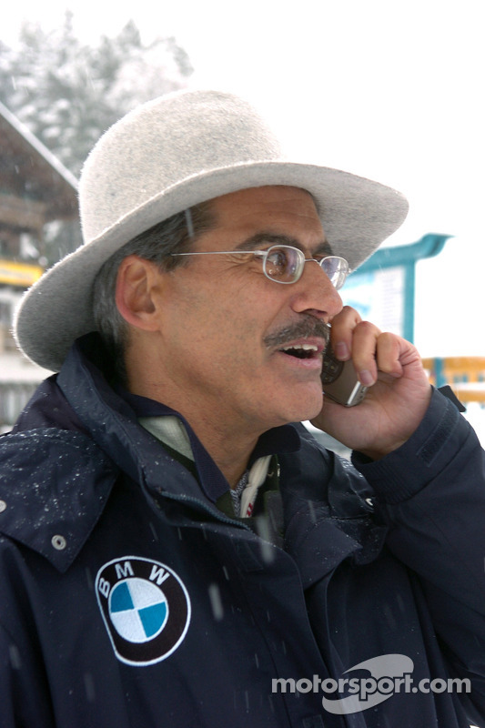 Dr Mario Theissen (BMW Motorsport Director) in the snow