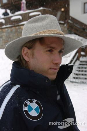 Nick Heidfeld BMW WilliamsF1 Team pilotu 2005 snow