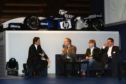 Prof Burkard Goeschel (Board member for Development BMW Group), Nick Heidfeld BMW WilliamsF1 Team pi