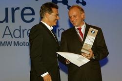 Dr Mario Theissen (BMW Motorsport Director) with BMW driver Franz Engstler