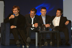 Dr Mario Theissen (BMW Motorsport Director) with Alex Zanardi and Andy Priaulx