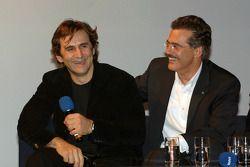 Dr Mario Theissen (directeur BMW Motorsport) avec Alex Zanardi
