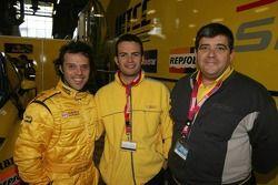 Loris Capirossi, Giovanni Calabrese et Antonio Rodriguez