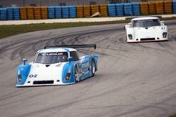 #02 Chip Ganassi Racing with Felix Sabates Lexus Riley, #47 Truspeed Motorsports Pontiac Riley: Rob Morgan, Charles Morgan