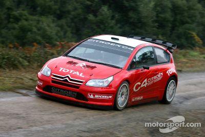 Citroen C4 WRC 2007 testing