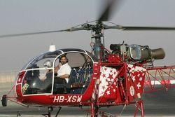 A1 helicopter recovery system demonstration: Sheikh Maktoum Hasher Maktoum Al Maktoum