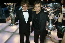 Fernando Alonso, campeón del mundo de F1 y Sébastien Loeb, campeón del mundo de WRC