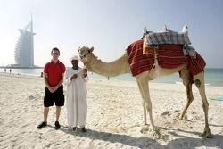 Sean Macintosh and a camel