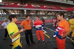 Nelson Piquet Jr, Jos Verstappen en Jeroen Bleekemolen