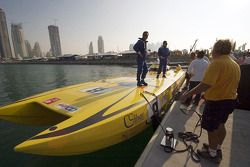 A1GP attends the Word Powerboat GP of Dubai: one of the powerboats