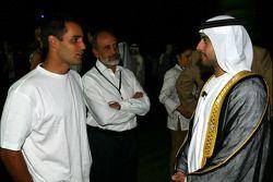 Dubai welcome party: Juan Pablo Montoya with father Pablo and Sheikh Maktoum Hasher Maktoum Al Maktoum