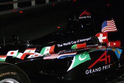Dubai welcome party: a A1GP car on display