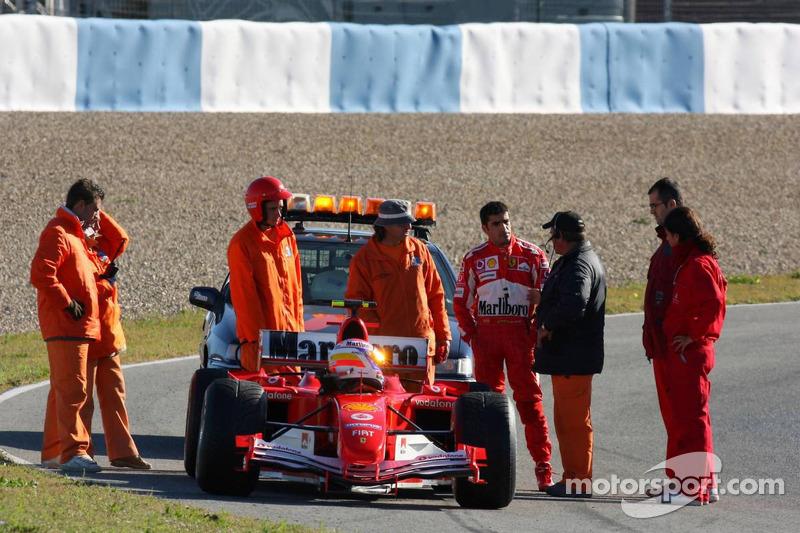Ferrari, Marc Gene stopped, track