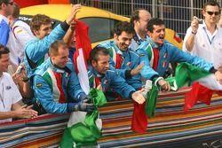 A1 Team Italy celebrate podium finish