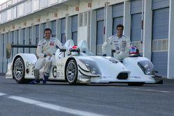 Sascha Maassen;Lucas Luhr with the Porsche RS Spyder-LMP2
