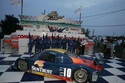 DP podium: race winners Max Angelelli and Wayne Taylor