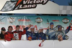 DP podium: race winners Max Angelelli and Wayne Taylor, with Bob Stallings and Alex Gurney, and Jorg